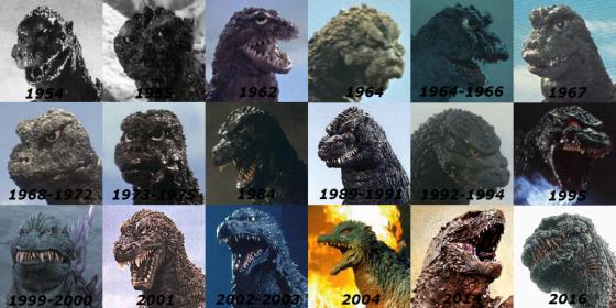 godzilla-evolucion